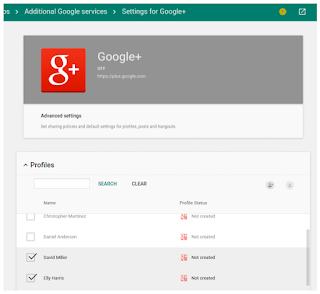 Créer ou supprimer des profils Google+