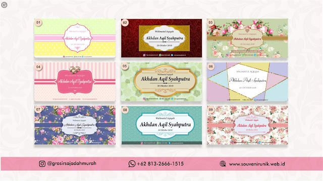 Contoh Souvenir Aqiqah | +62 813-2666-1515