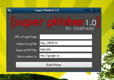 phishing software