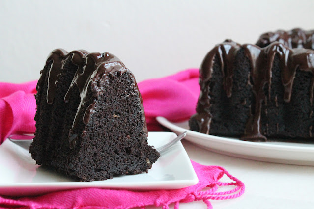 Food Lust People Love: Both rich and somehow also light, this chocolate brandy cake with black pepper and cloves gets better and better each day! And that glaze! Perfection