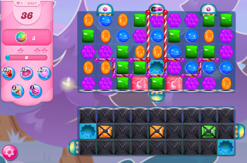 Candy Crush Saga level 8637