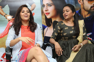 Actress Suma in Black Salwar Suit and Anusuya in orange Dress at winner movie press meet part 2 February 2017 (49).JPG