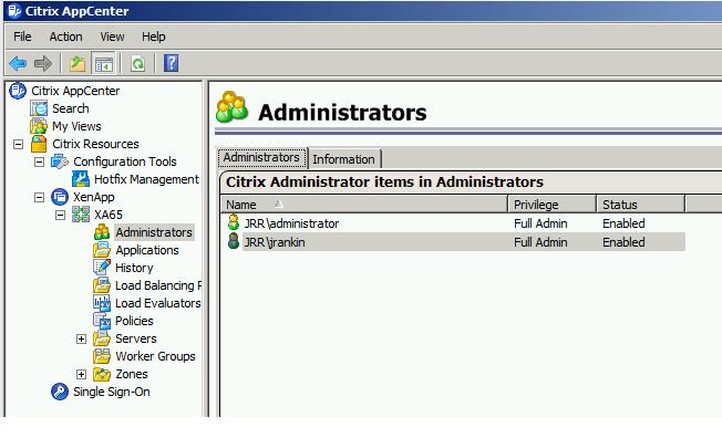 Roaming Citrix management consoles through AppSense