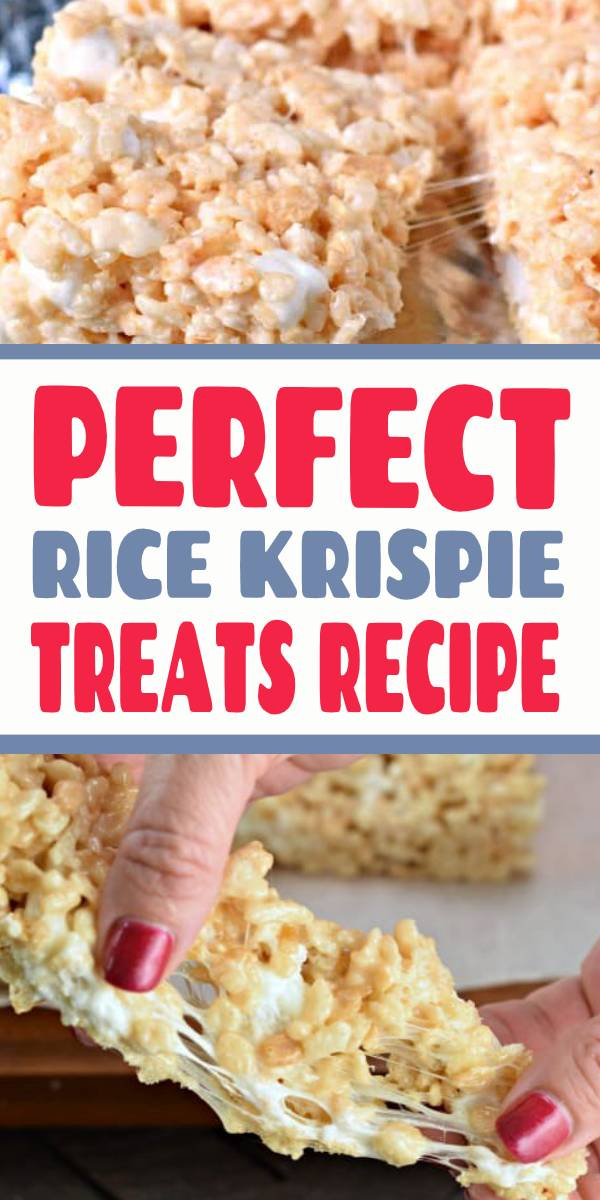 Get the secret tips and tricks to making the most PERFECT Rice Krispie Treats. Kid and adult friendly! THICK AND CHEWY! #nobake #ricekrispietreats #ricekrispie #treats