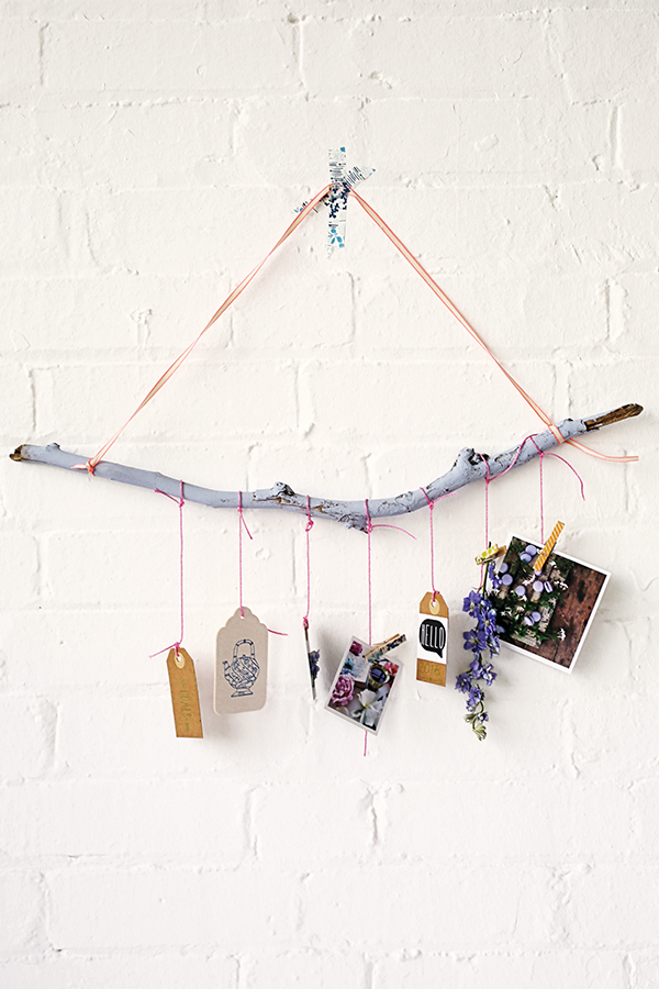 Make a DIY inspirational wall hanging with Mollie Makes