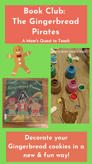 cover the book The Gingerbread Pirates and some salt dough ornaments being painted