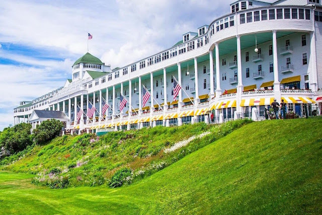 You will never forget the spectacular views from a rocking chair overlooking the Straits of Mackinac from the world's longest porch in the Grand Hotel.Third-generation, family-owned by the Musser family, Grand Hotel is rich in history, a place where time moves at the pace of horse-drawn carriages and bicycles.