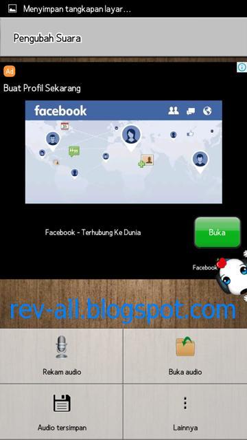 Tampilan utama aplikasi android Voice Changer (rev-all.blogspot.com)
