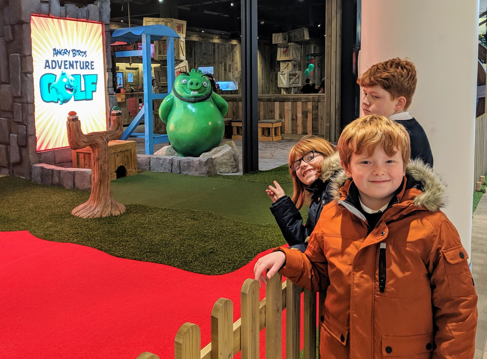 Angry Birds Golf Location and Entrance -Angry Birds Adventure Golf Review at intu Metrocentre | Opening, Prices & Food