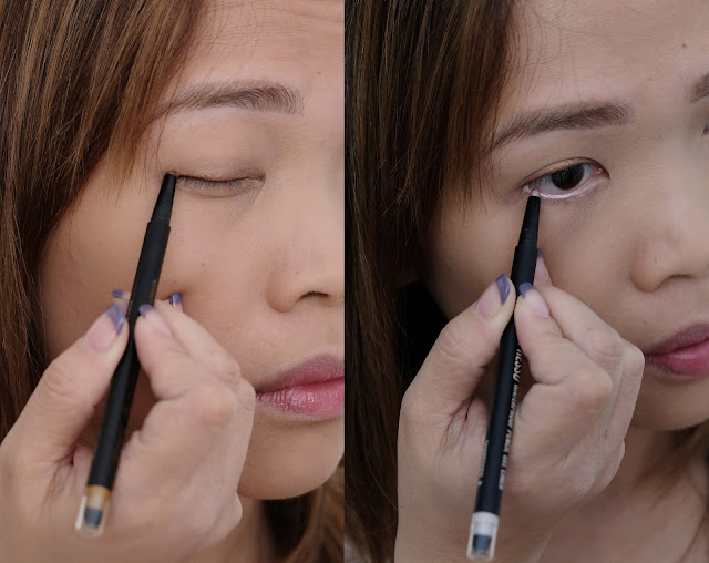 a swatch photo of CLIO Gelpresso Waterproof Pencil Gel Liner review by Nikki Tiu www.askmewhats.com