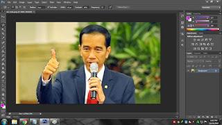 Cara seleksi foto menggunakan Lasso Tool