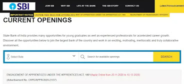 How to Apply For SBI Apprentice Recruitment for 8500 Post