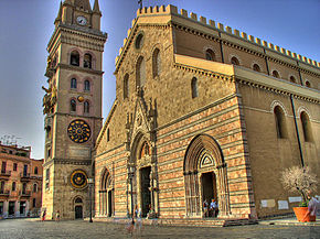 Messina's cathedral and bell tower have had to be rebuilt on several occasions due to disasters and war