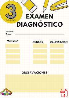 Examen diagnóstico tercer grado primaria pdf