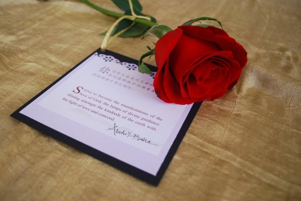 Роза с цитатой на тему любви