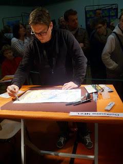 C'était à au Festival Dessinator en 2015, thème de la Mer, à SHilaire du Harcouët (50) ©Guillaume Néel