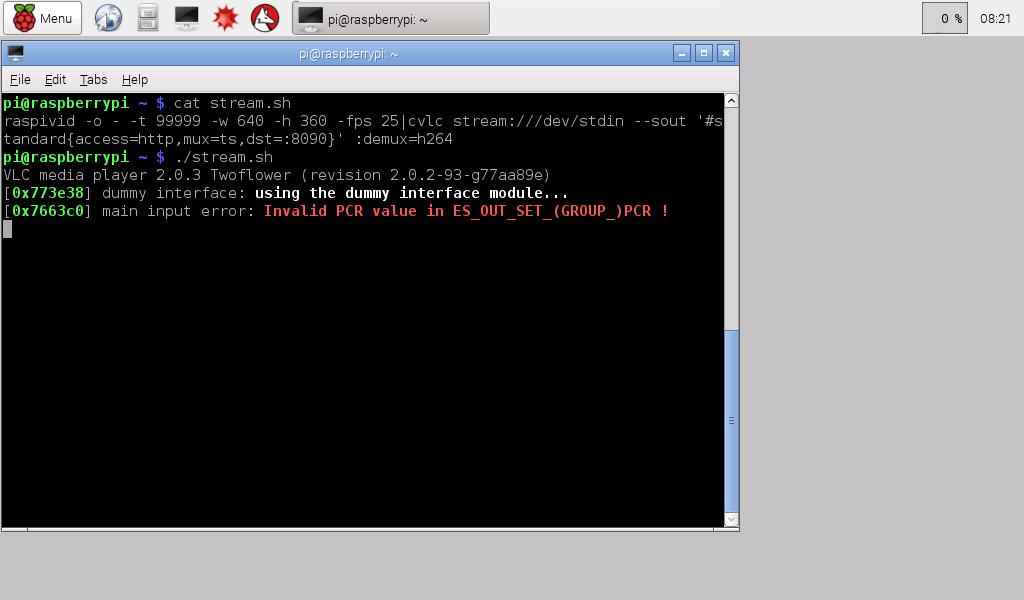 Hello Raspberry Pi: Stream Raspberry Pi Camera Module video using