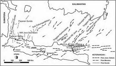 Peta Struktur Regional Jawa