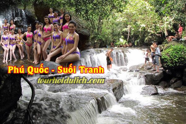 Tắm suối Tranh Phú Quốc suối đẹp