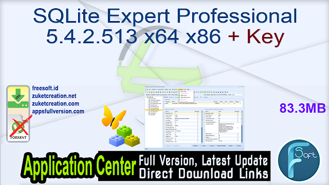 SQLite Expert Professional 5.4.2.513 x64 x86 + Key