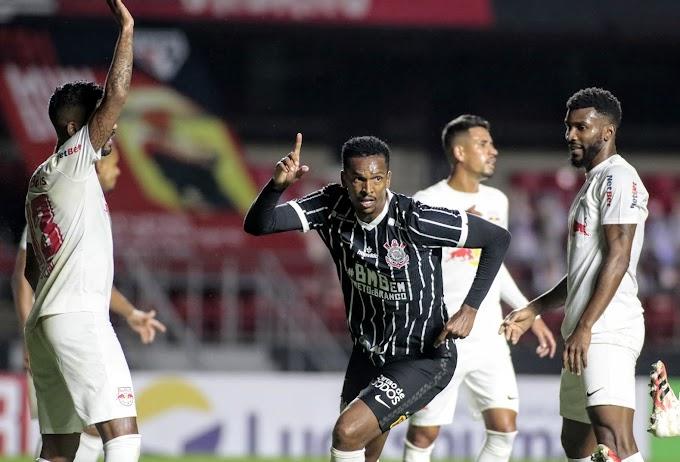 Jô marca na reestreia, Corinthians vence o Bragantino e está na semifinal do Paulistão