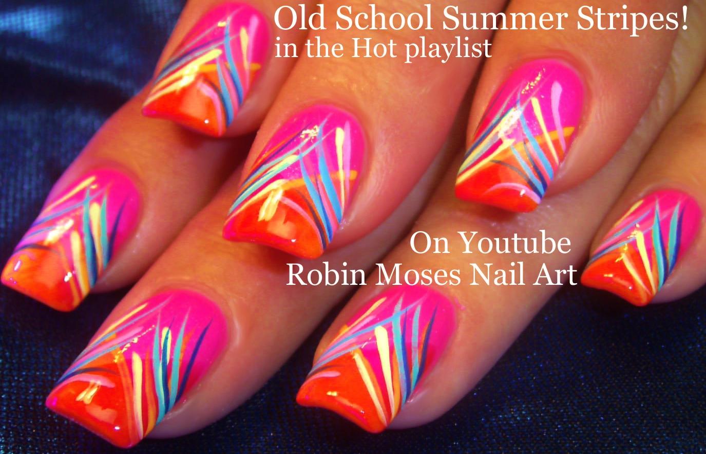 Nail Art By Robin Moses Hot Summer Nail Art Ideas Full Of Neon