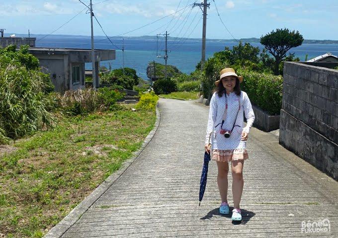 Gilet de bain anti-UV et ombrelle à Miyakojima