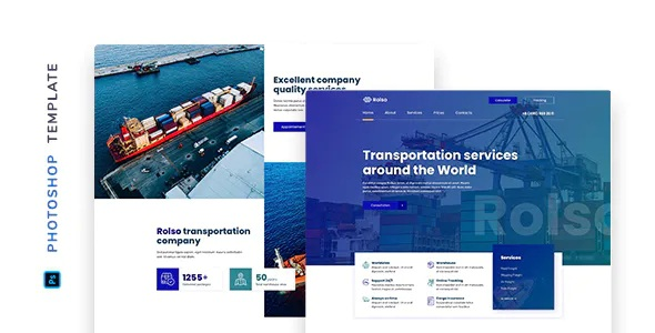 Best Logistic Company Template for Photoshop