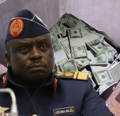 EFCC Recovers $1m in 'Soak-away' At Ex-Air Chief Amosu's House In Badagry, Another N3bn traced Wife's Account