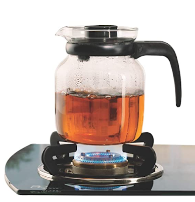 Borosil - Carafe Flame Proof Glass Kettle Can be Use into Freezer to Microwave
