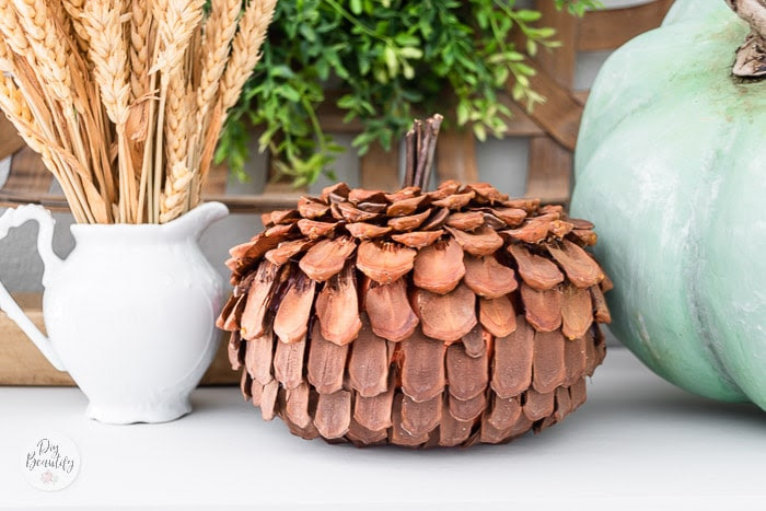 How to Make a Pinecone Scale Pumpkin