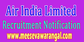 Air India Limited Recruitment Notification