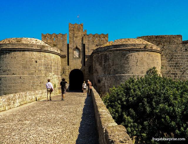 Porta d'Amboise, na Cidade medieval de Rodes - Grécia
