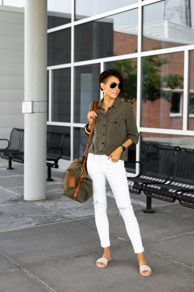 Kilee Nickels - Ropper Sandals and White Pants