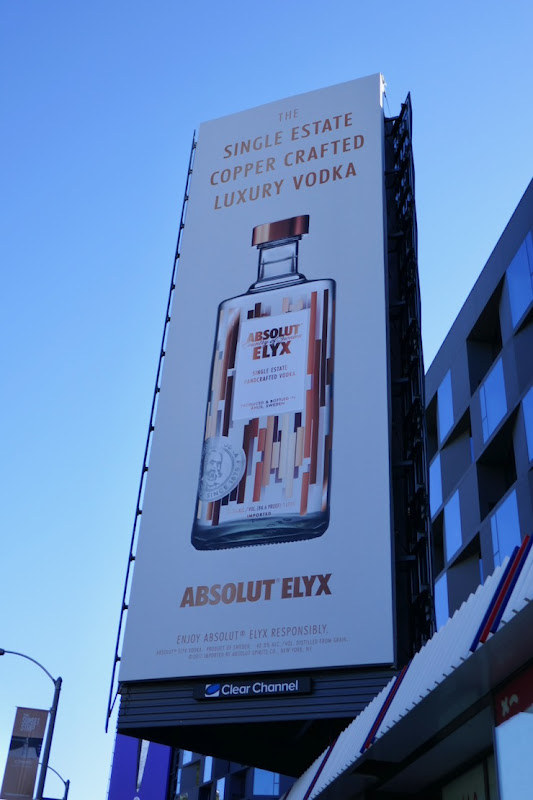 copper crafted luxury vodka Absolut Elyx billboard