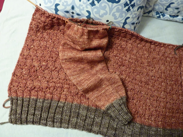 Bottom Up Cardigan - Yoke and sleeve