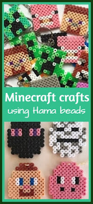 Minecraft crafts using Hama or Perler beads