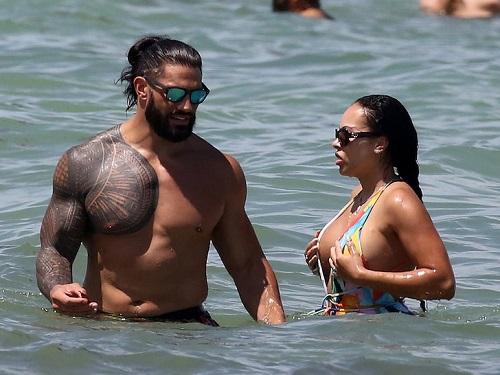 WWE Roman Reigns & Wife, Galina Becker stun at beach in Miami
