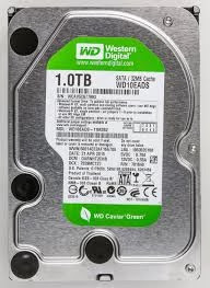 7200 rpm 3.5 inch SATA HDD 1 TB WD green