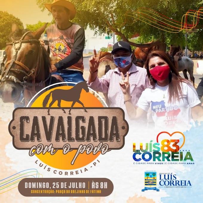 Prefeitura realiza Cavalgada com o Povo em comemoração aos 83 anos de Luís Correia
