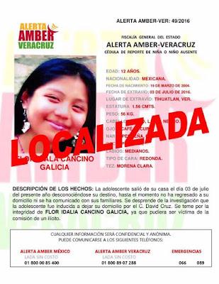 FGE Veracruz Localiza a 14 personas desaparecidas y desactiva una Alerta Amber