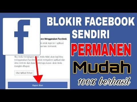 cara memblokir akun facebook sendiri secara permanen melalui pc desktop