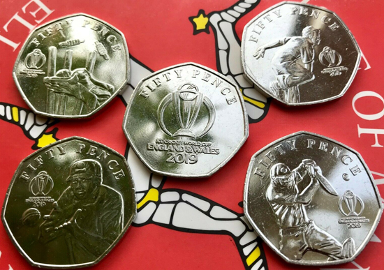 Isle of Man 50 pence 2019 Cricket World Cup