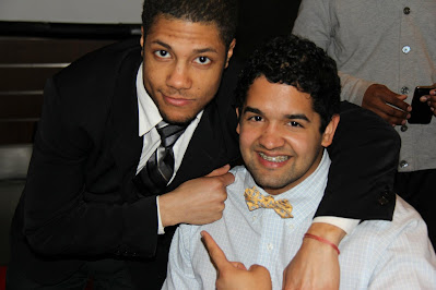 Mateo and Quemuel Arroyo (CAS '12, WAG '20) at an NYU event