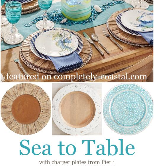 Coastal Charger Plates