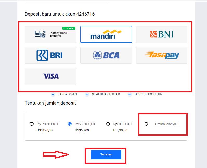 Cara Deposit Akun Trading Octafx Panduan Jelas Untuk Pemula Trader Forex Via Bank Lokal Panduan Trading Forex Di Octafx