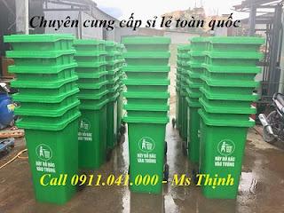 Thùng rác công cộng 120l nhựa HDPE giá rẻ nhất hiện nay lh 0911.041.000 1