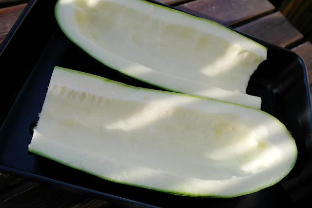 zucchini som fylls