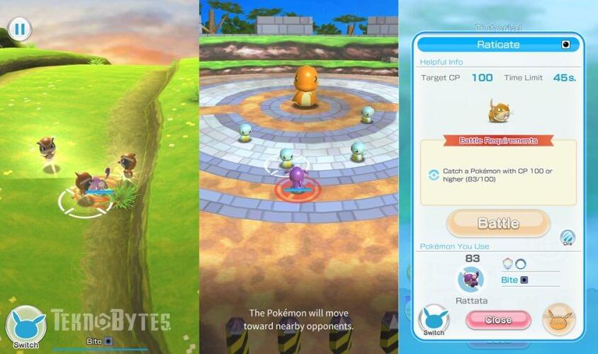 Tampilan Gameplay Pokemon Rumble Rush