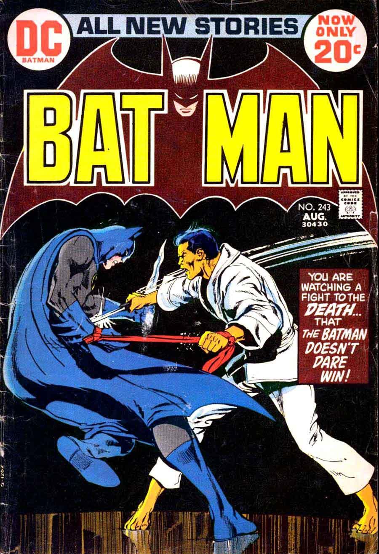 Batman v1 #243 dc comic book cover art by Neal Adams